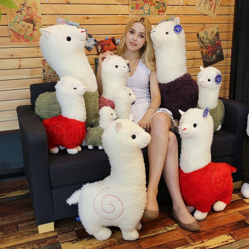28-46 см милая кукла-альпака, мягкие плюшевые игрушки, сопровождающие игрушки для детей, мягкие игрушки
