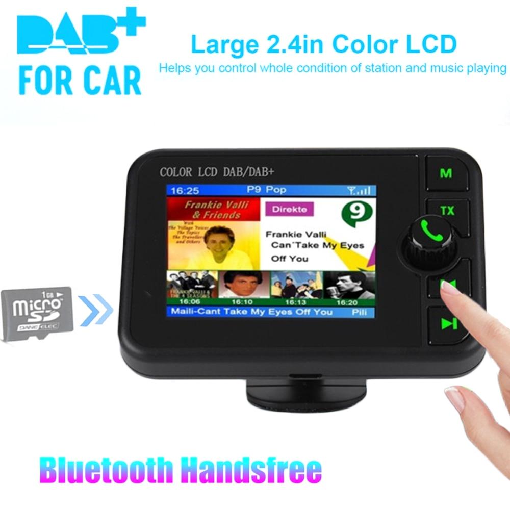 Мини DAB цифровой радиоприемник Bluetooth MP3 музыкальный плеер fm-передатчик адаптер Красочный ЖК-экран для автомобиля аксессуары