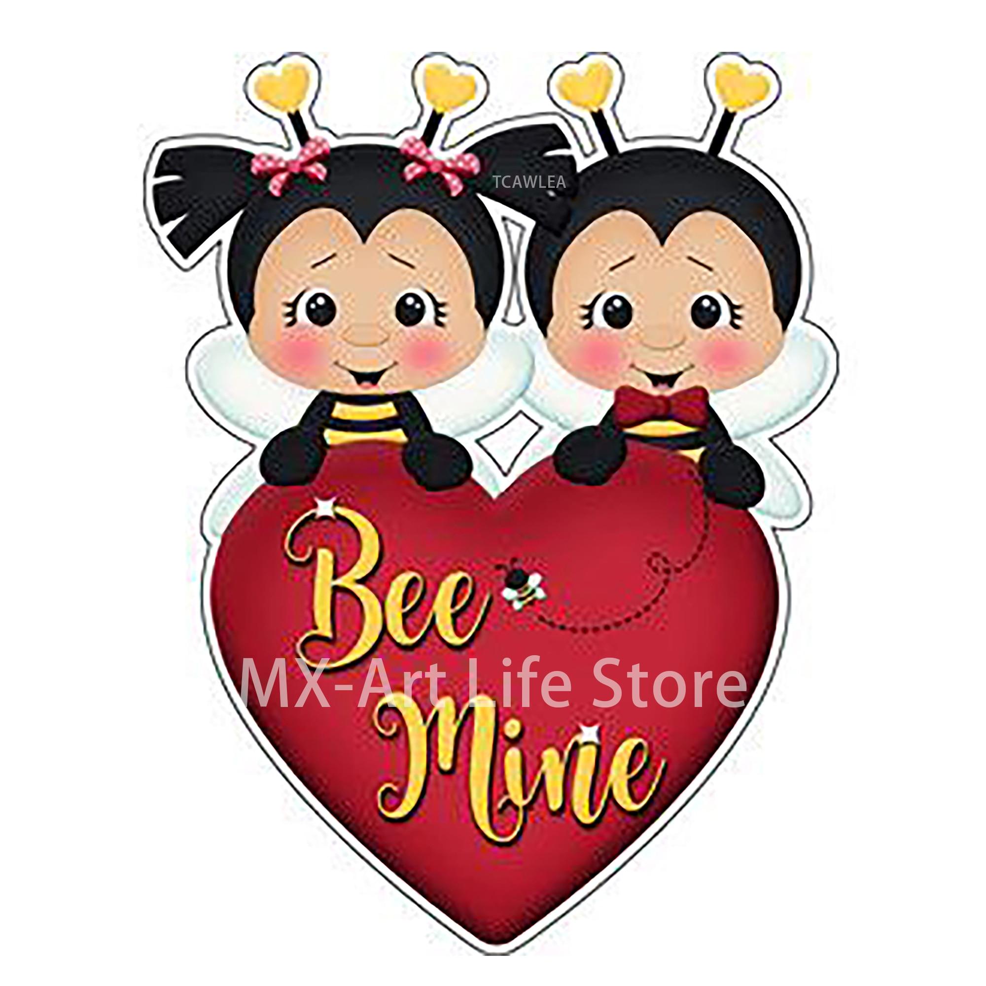 2020 amor corazón abeja chico con chica Metal troqueles animales muñeca bebé artesanía plantilla para tarjetas para álbum de recortes DIY decorativo