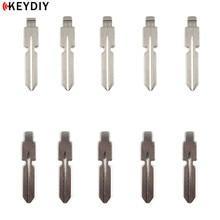 KEYDIY 10 pcs/lot Metal Blank Uncut Flip KD Remote Key Blade Type #11 for Benz 126 124 W140 S320 4 Track Car Blank Replacement