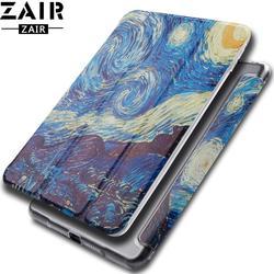 Capa protetora desenho animado para tablet, case para apple ipad mini 1 2 3 4 5 2019, acordar inteligente, dormir, capinha pintada para mini 4 mini5