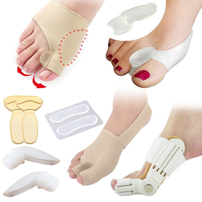 Juanete Hallux Valgus Corrector separador de dedos del pie herramientas de pedicura cojín almohadilla hueso pulgar enderezador Anti frotamiento almohadilla zapatos pegatinas