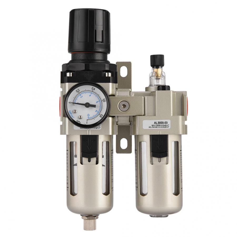 1pc AC3010-03 Aluminum Alloy Compressed Air Pressure Regulator Moisture Trap Water Filter 3/8