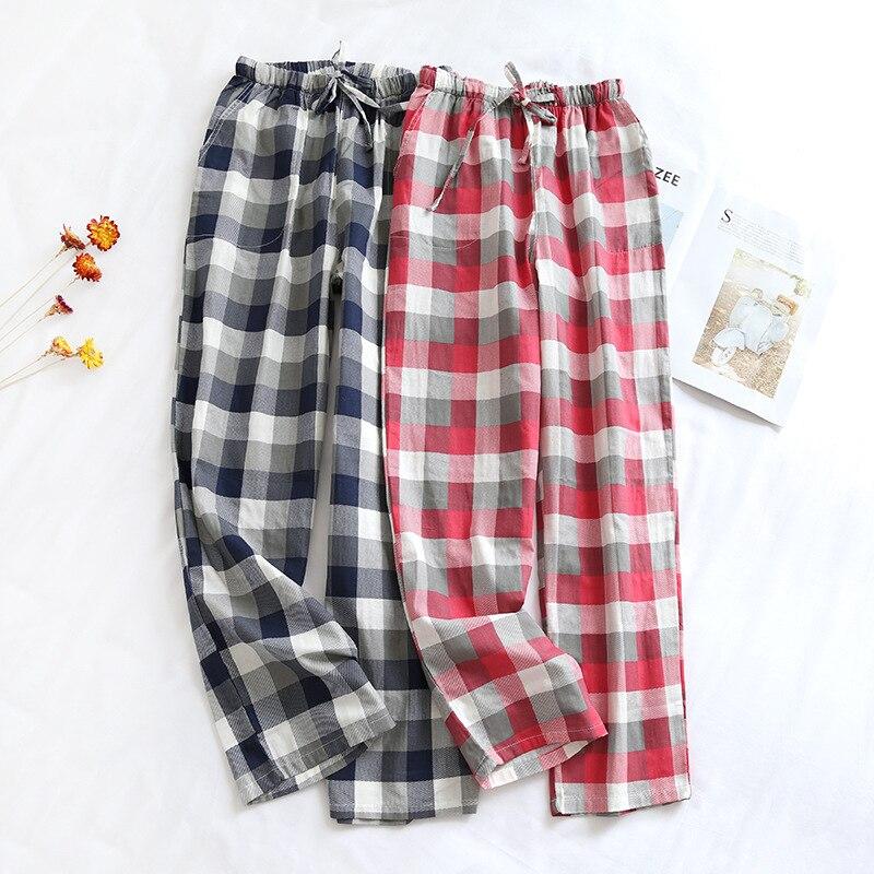 2021 New Hot Sale Couples Sleepwear Pants Plaid Lounge Wear Cotton Pajamas Pants Sleep Bottoms