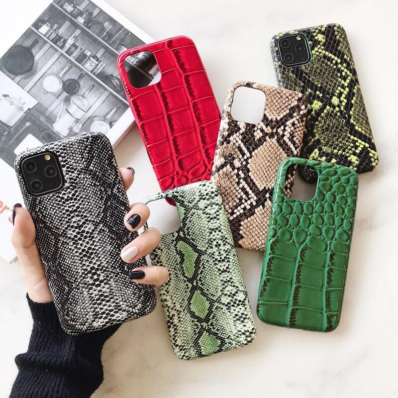 Мягкий силиконовый чехол для телефона с крокодиловой текстурой для iphone 11 pro XS MAX X XR 7 8 6 6S plus, чехол из искусственной кожи со змеиным узором