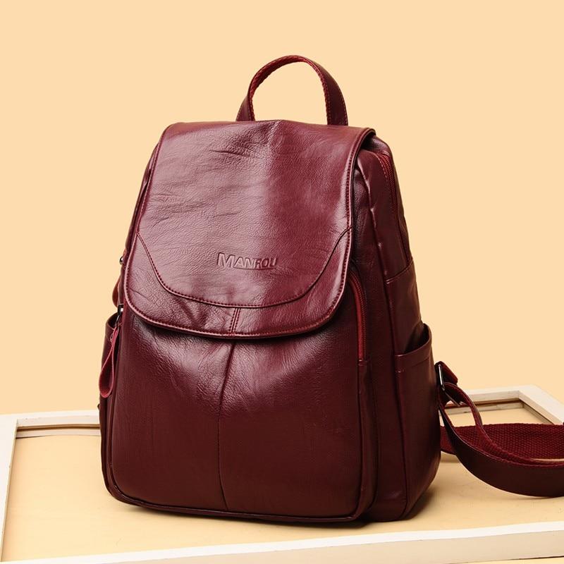 Women's Bag 2020 New Fashion High Quality Female Versatile Shoulder Backpack Feeling Foreign Leisure Girl's Backpack for Women