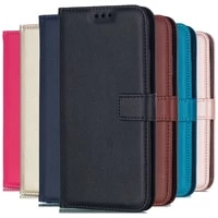 Solid Color Leather Wallet Case For Sony Xperia Z3 Z5 Compact M4 M5 E4 E5 XZ XZ1 XA Ultra XA2 L1 L2 Flip Cover Card Slot Bags
