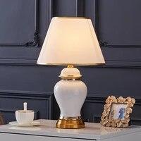 american modern white ceramic table lamp for living room study bedroom bedside lamp light luxury simple decorative night light