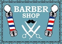 metal sign barber shop poles art hair cut beard style pattern old decor novelty art sign for wall art metal sign 8x12 inches