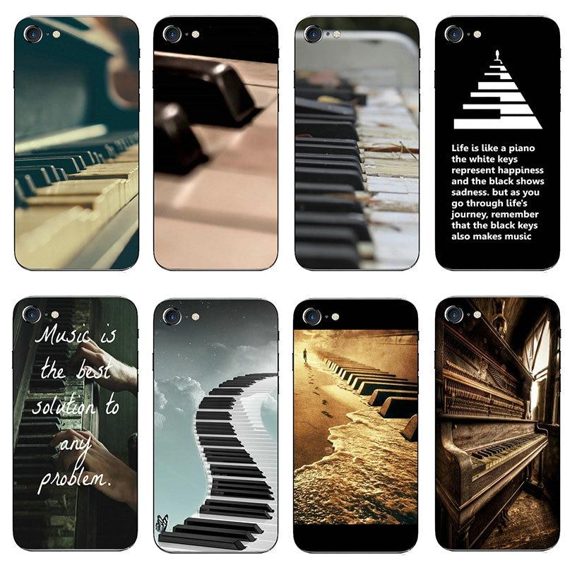 Software de música plugue do piano macio tpu caso do telefone móvel capa para o iphone 8 7 6s plus x xr xs 11 pro max 10 5 5S se 5c 4 4S concha