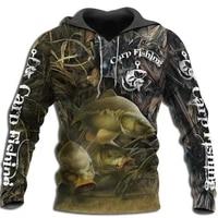 2021 fashion men hoodie cool carp fishing 3d printed harajuku sweatshirt unisex casual pullover hoodies sudadera hombre