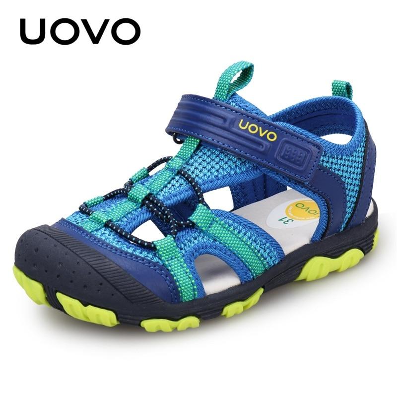 UOVO 2020 Neue Ankunft Jungen Sandalen Kinder Sandalen Closed Toe Sandalen für Kleine und Große Sport Kinder Sommer Schuhe Eur größe 25-35