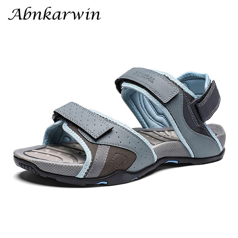 Summer Fashion Breathable Hook & Loop Men Sandals Outdoor Sandal Mens Sandles Sandalia Hombre Casual Trekking Open Shoes