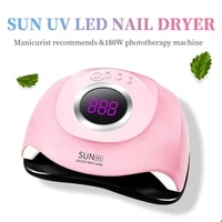 sun uv lamp for manicure 180w uv lamp nail dryer uv led gel nail lamp fast curing gel polish ice lamp for nail manicure machine