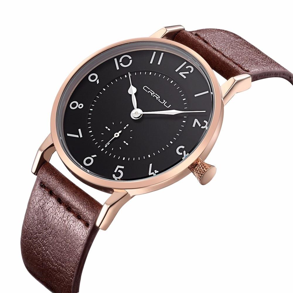 Luxury Brand Men Watches Ultra Thin Genuine Leather Clock Male Quartz Sport Watch Men Waterproof Casual Wristwatch relogio
