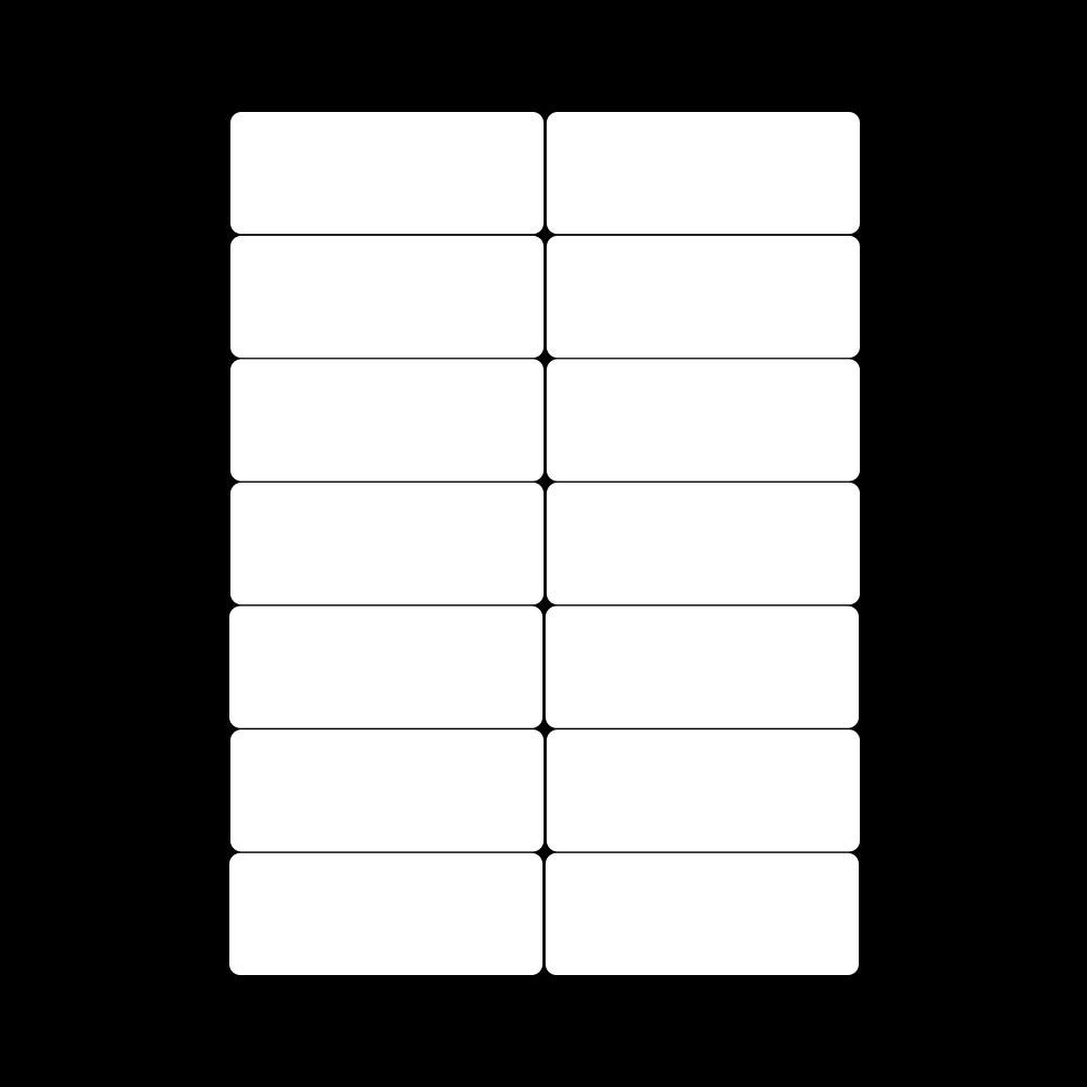 Etiquetas autoadesivas a4 branca, 5 folhas de endereço, etiqueta de pacote adesivo para inkjet/impressora laser, divisor de papel, escritório suprimentos