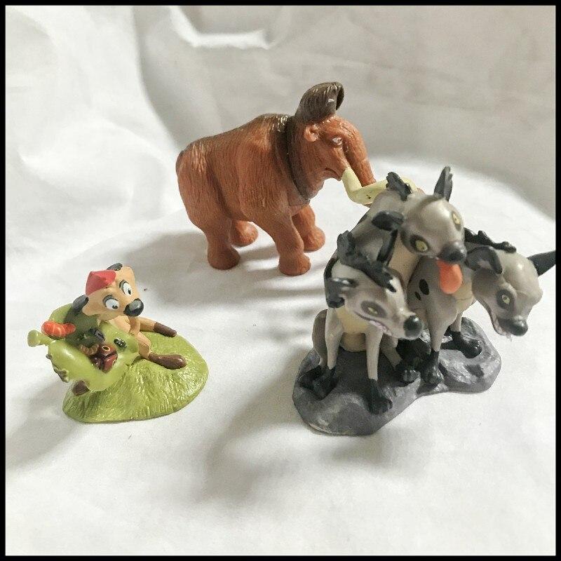 El Rey León juguetes Simba Mufasa Nala Pumbaa Timon Mini juguetes de PVC para niños cumpleaños regalo de Navidad