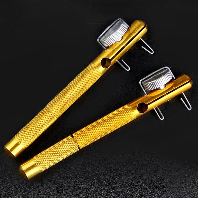 Aparejos de pesca de aleación de aluminio gancho de nivel de línea de pesca herramienta de amarre con nudos de amarre de sublínea YS-BUY