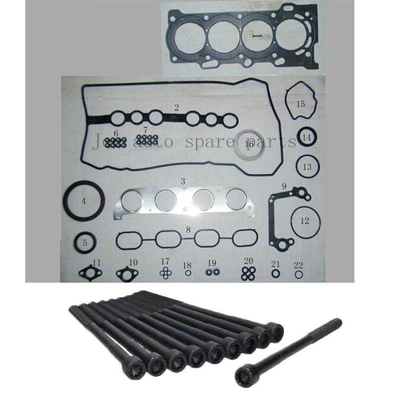1 zzfe completo del motor Junta kit para Toyota Altis/matriz/corola/AVENSIS/Rav4 II III /MR2 1.8L 1974cc