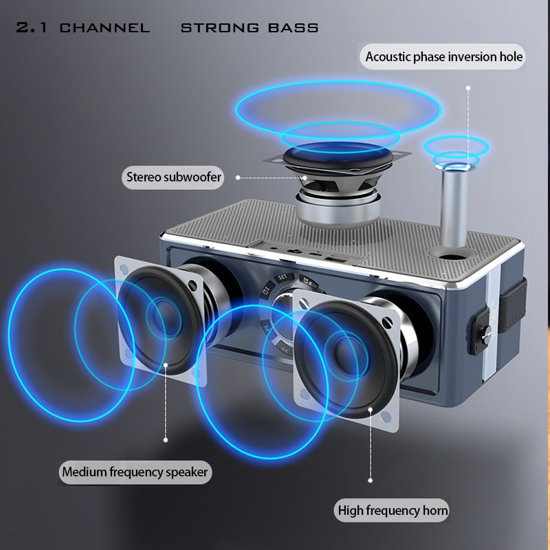 Mini Bluetooth Speaker Portable Wireless Speaker LED Display Sound System 3D Stereo Music Surround Support Bluetooth TF AUX USB enlarge