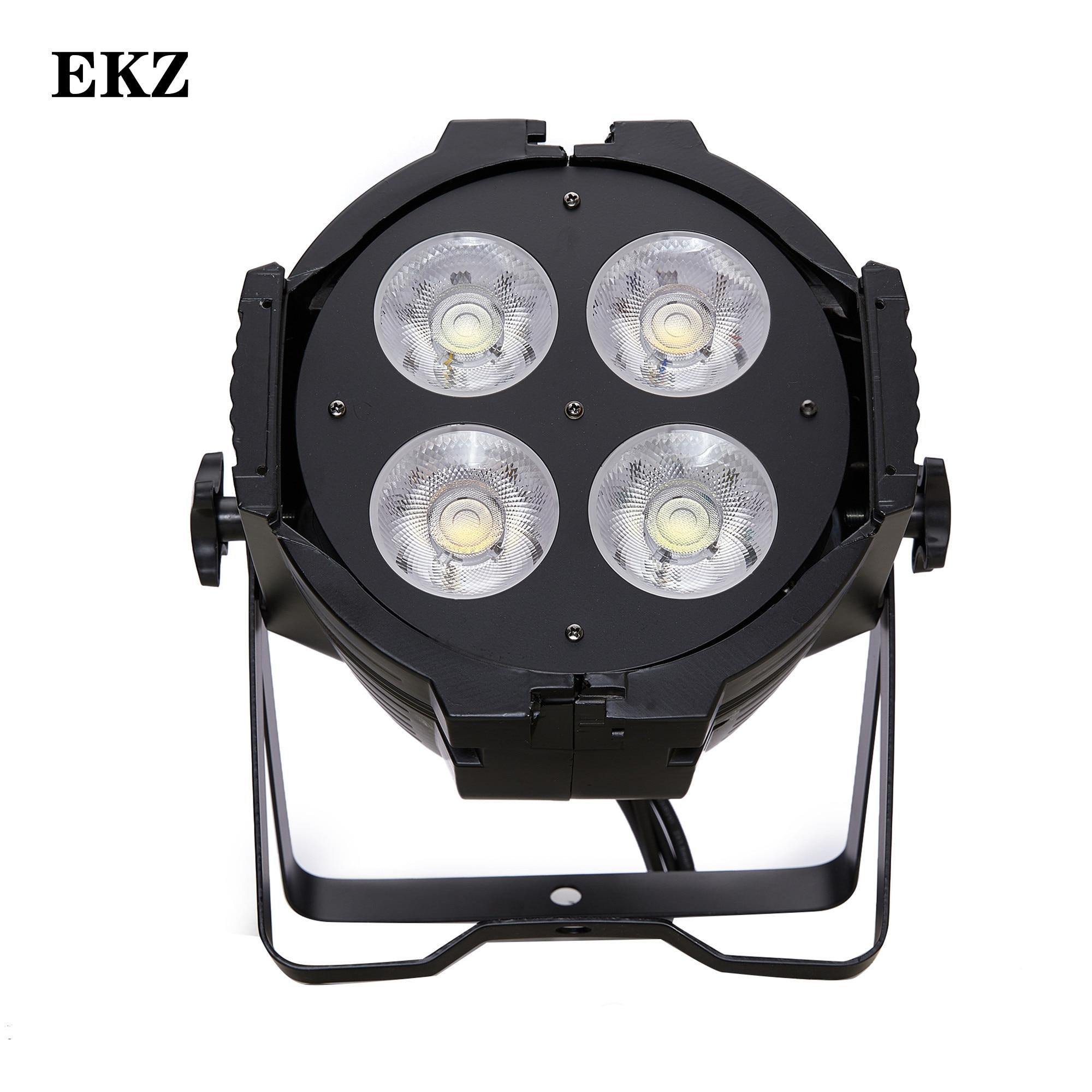 EKZ-200W COB 4x50 واط كول الأبيض والأبيض الدافئة Led الاسمية يمكن 4/8 DMX DJ مرحلة الإضاءة مسرح حفلة ديسكو غسل الأضواء