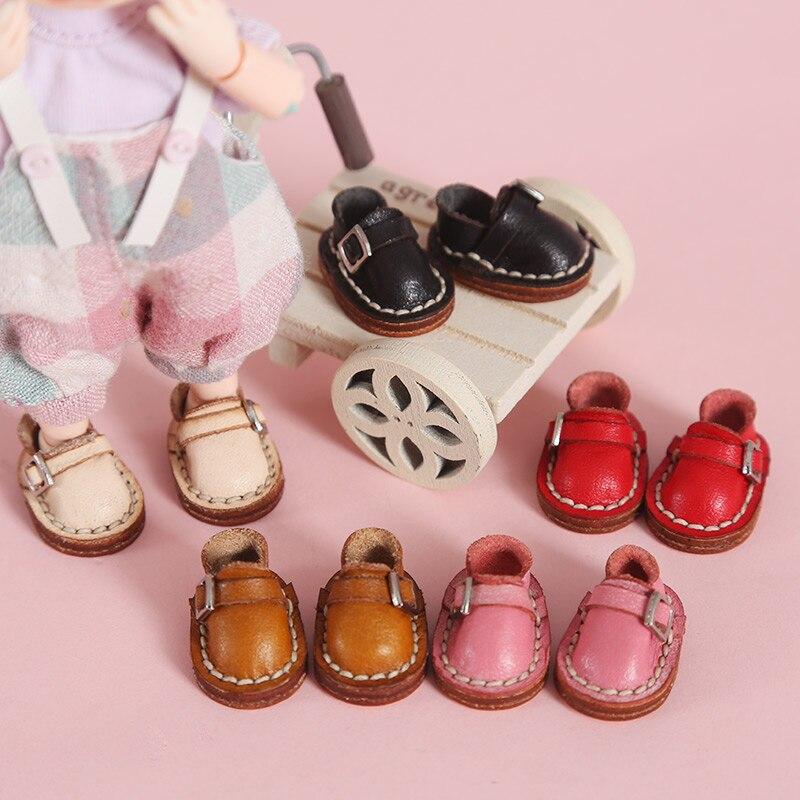 Ob11 zapatos de muñeca ropa para muñeca bjd, zapatos de cuero hechos a mano obitsu11 holala P9 element body GSC 1/12bjd, zapatos de muñeca, zapatos de cuero