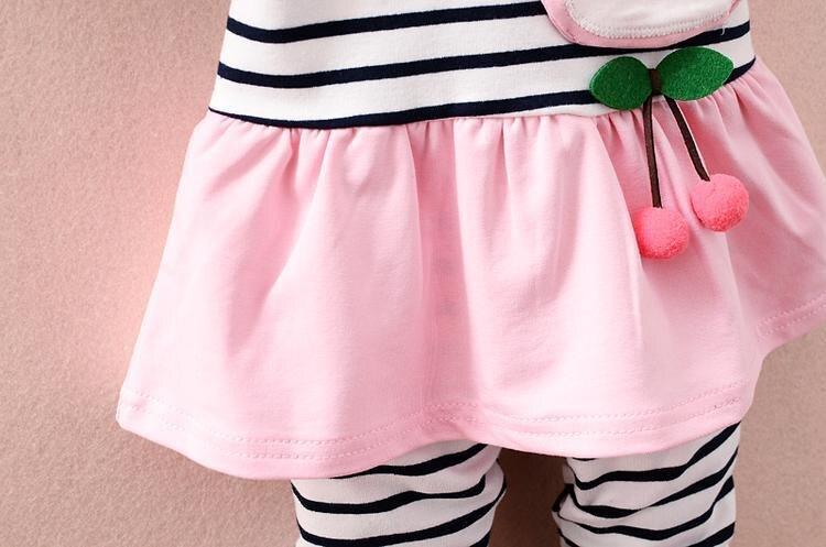 Купить с кэшбэком New Spring Autumn Children Cartoon Clothing Set Baby Girls T Shirt Pants 2pcs/sets Toddler Clothes Kids Infant Casual Sportswear