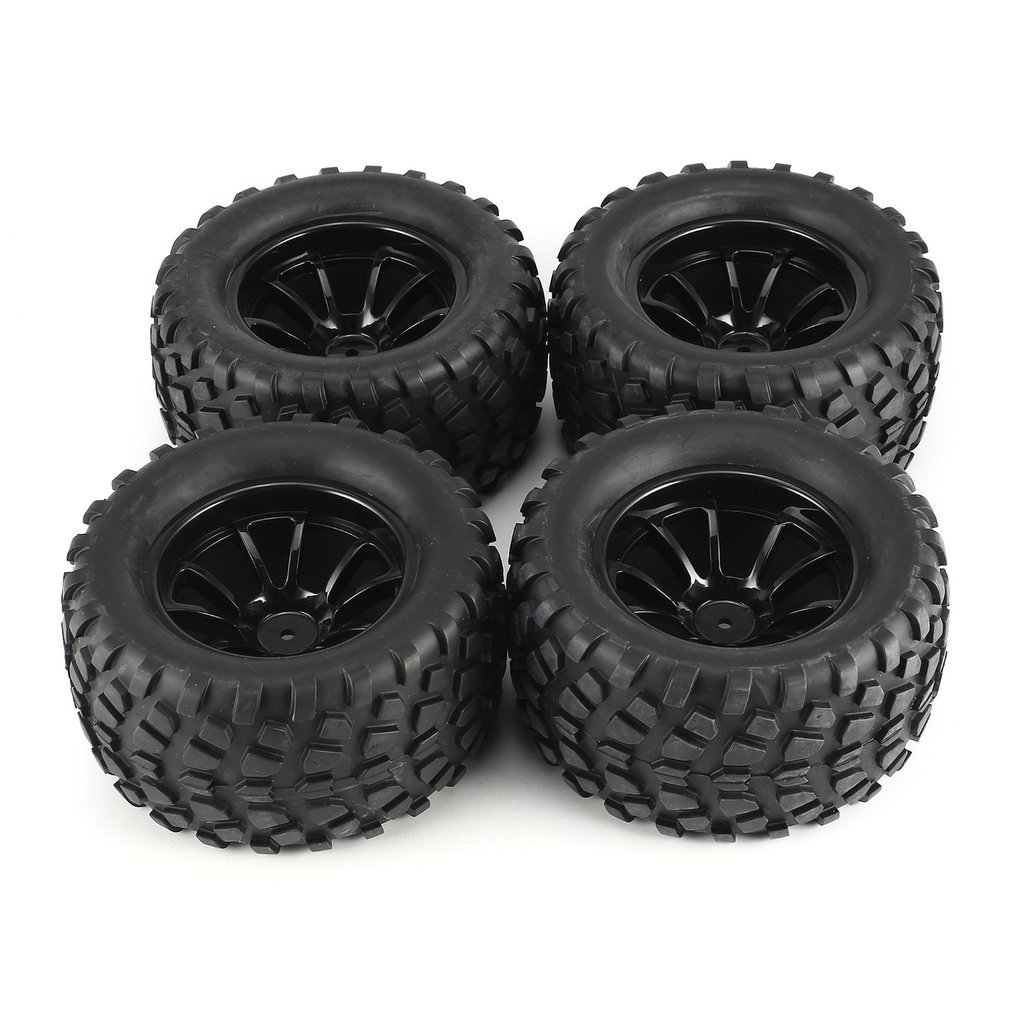 Nuevo 4 Uds 130mm 10 contorno volcado Fetal flor todoterreno llanta de rueda y neumáticos para 1/10 Monster Truck Racing RC accesorios de coche