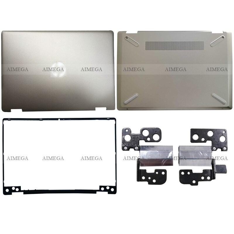 Novo para hp pavilion x360 14-dh 14-dh003tu portátil lcd capa traseira/moldura dianteira/dobradiças/caixa inferior L52880-001 ouro