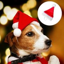 Kot pies kapelusz dla św. Mikołaja płaszcz Pet przebranie na karnawał Xmas obroża dla kociaka pieska czerwone czapki strona element ubioru odzież czapki bożonarodzeniowe ^ 40
