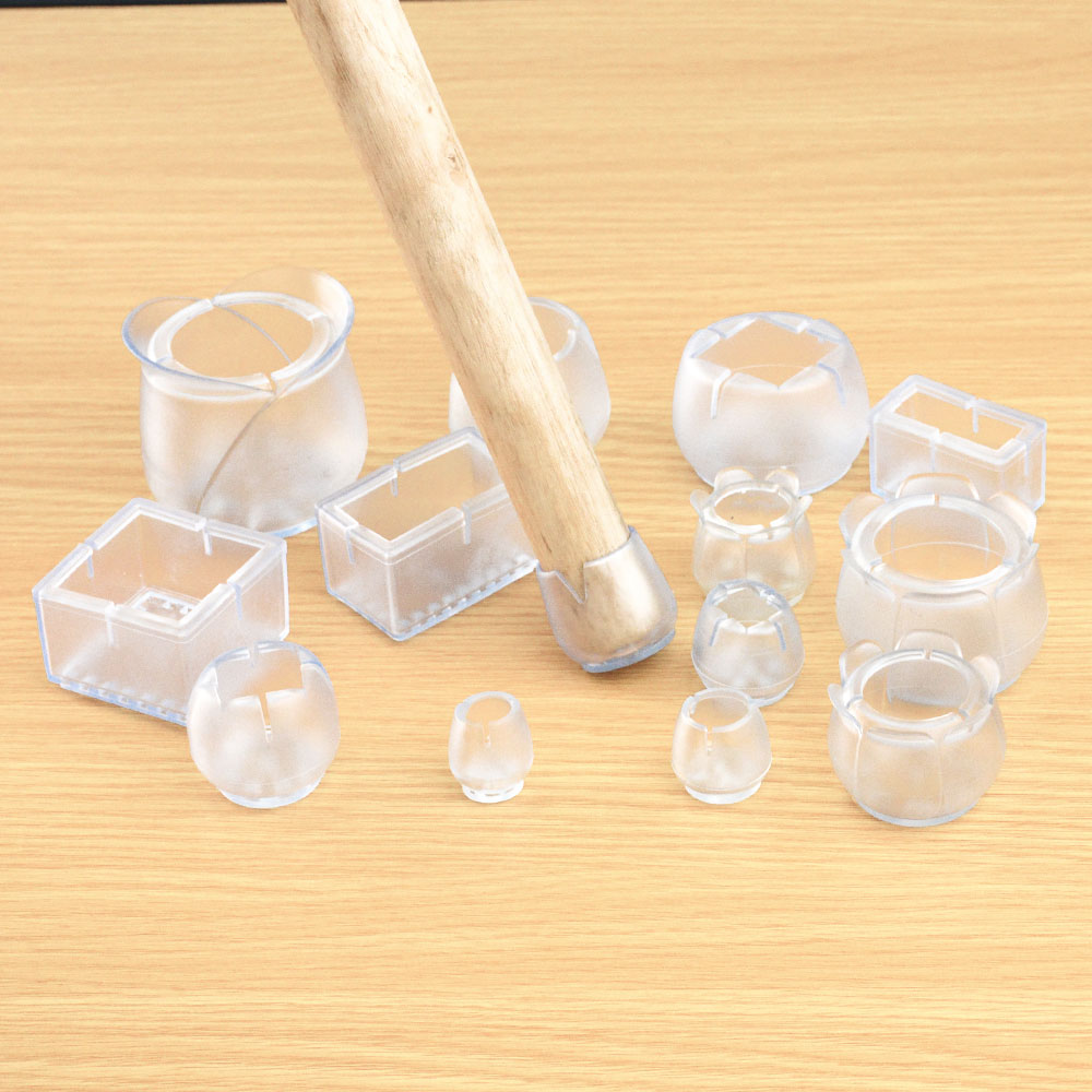 8/16Pcs/Lot Table Chair Leg Mat Silicone Non-slip Table Chair Leg Caps Foot Protection Bottom Cover Pads Wood Floor Protectors