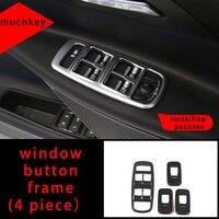 Window Button Frame Molding Trim For Jaguar Xel Carbon Fiber 4pcs