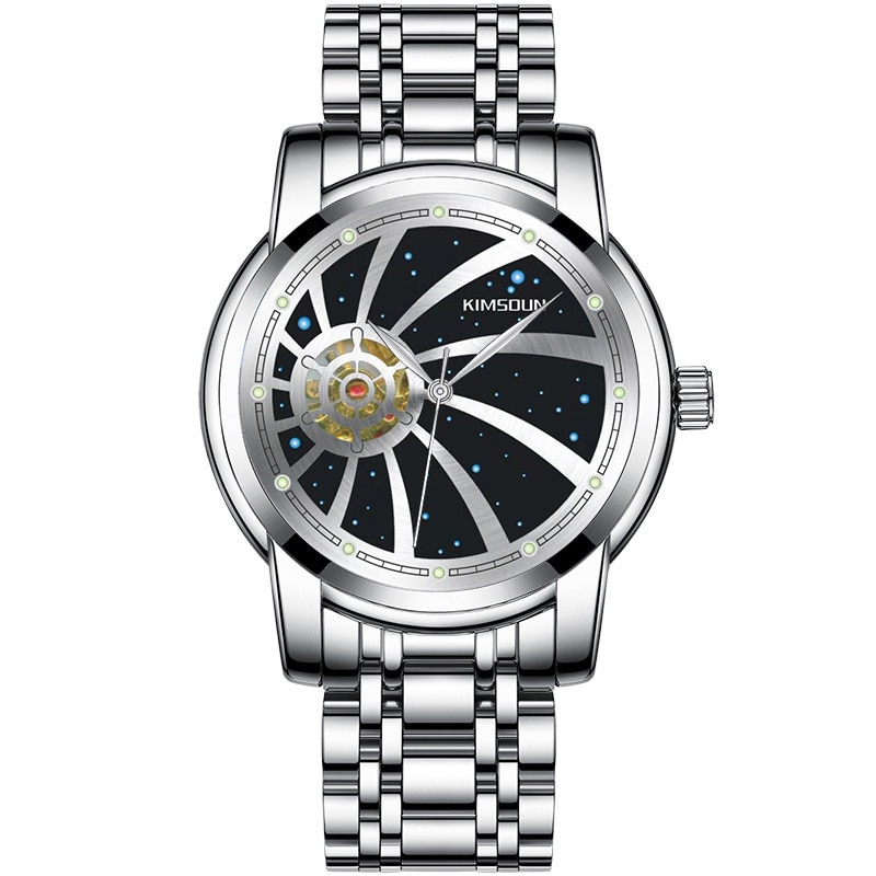 KIMSDUN Mens Watches New  Starry Sky Clock Dial Top Brand Luxury Hollow Out Fully Automatic Mechanical Watch Addiesdive Reloj enlarge