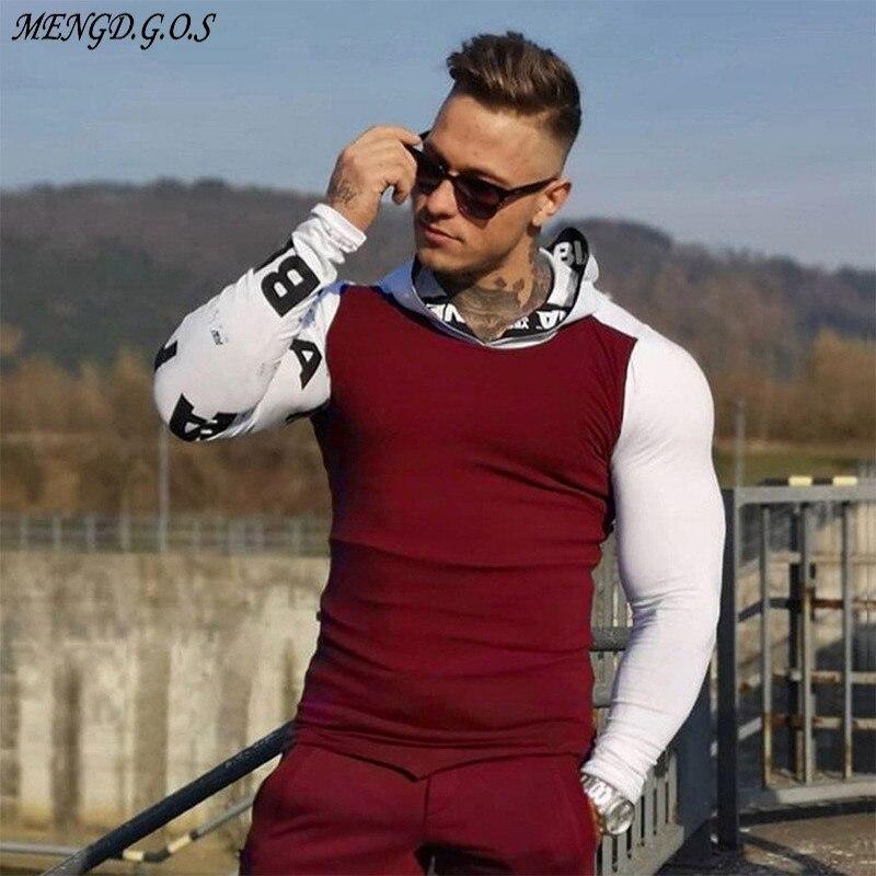 Ropa de calle informal para exterior, ropa para hombre 2019, ropa deportiva para hombre con diseño de Jogger Muscle, sudadera de algodón con capucha de marca para hombre