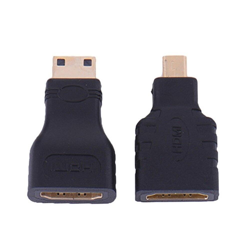 Adaptador HDMI para microhdmi + HDMI a Mini, convertidor chapado en oro,...