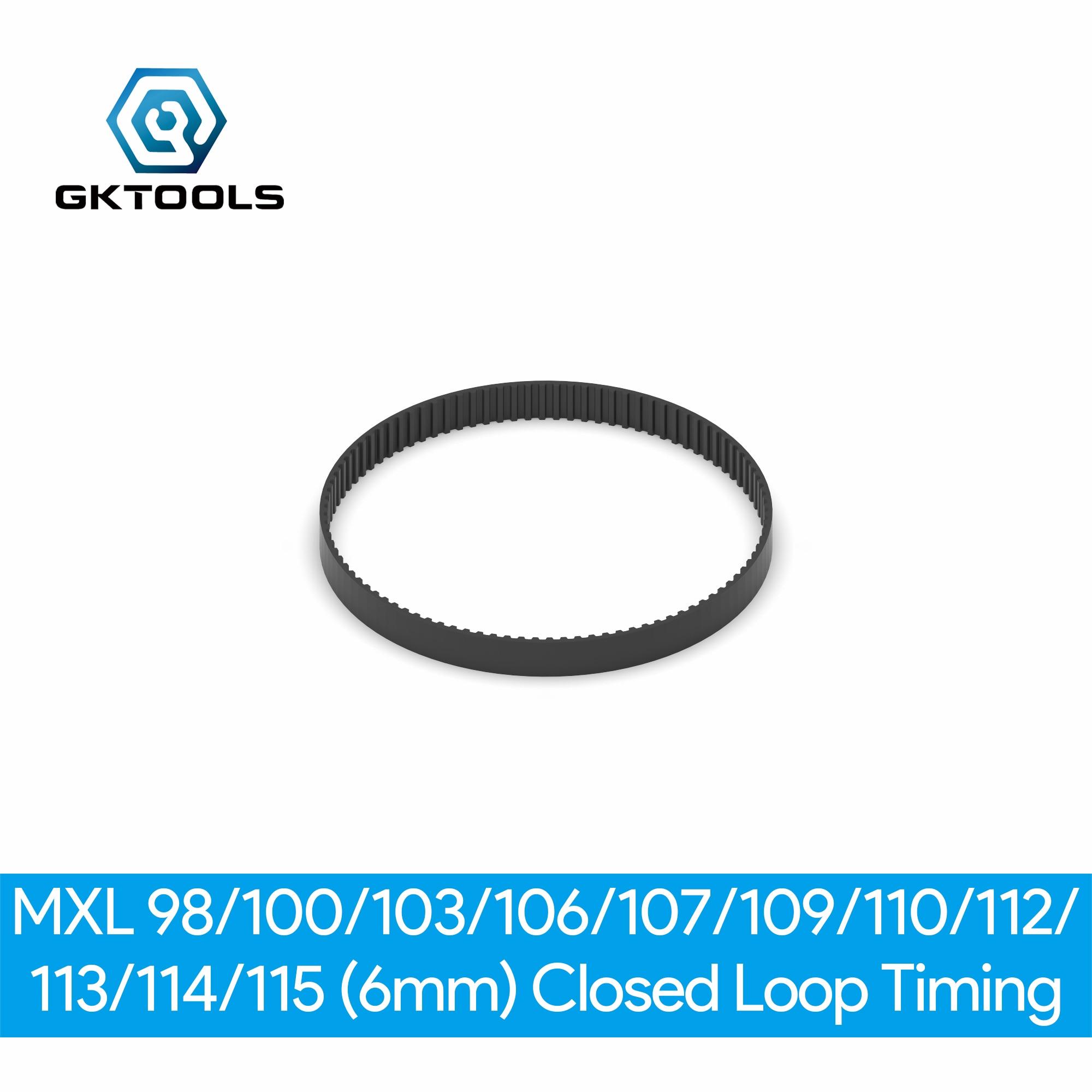 B98MXL B100MXL B103MXL B106MXL B107MXL B109MXL B110MXL B112MXL B113MXL B114MXL B115MXL de bucle cerrado correa dentada de goma ancho 6mm