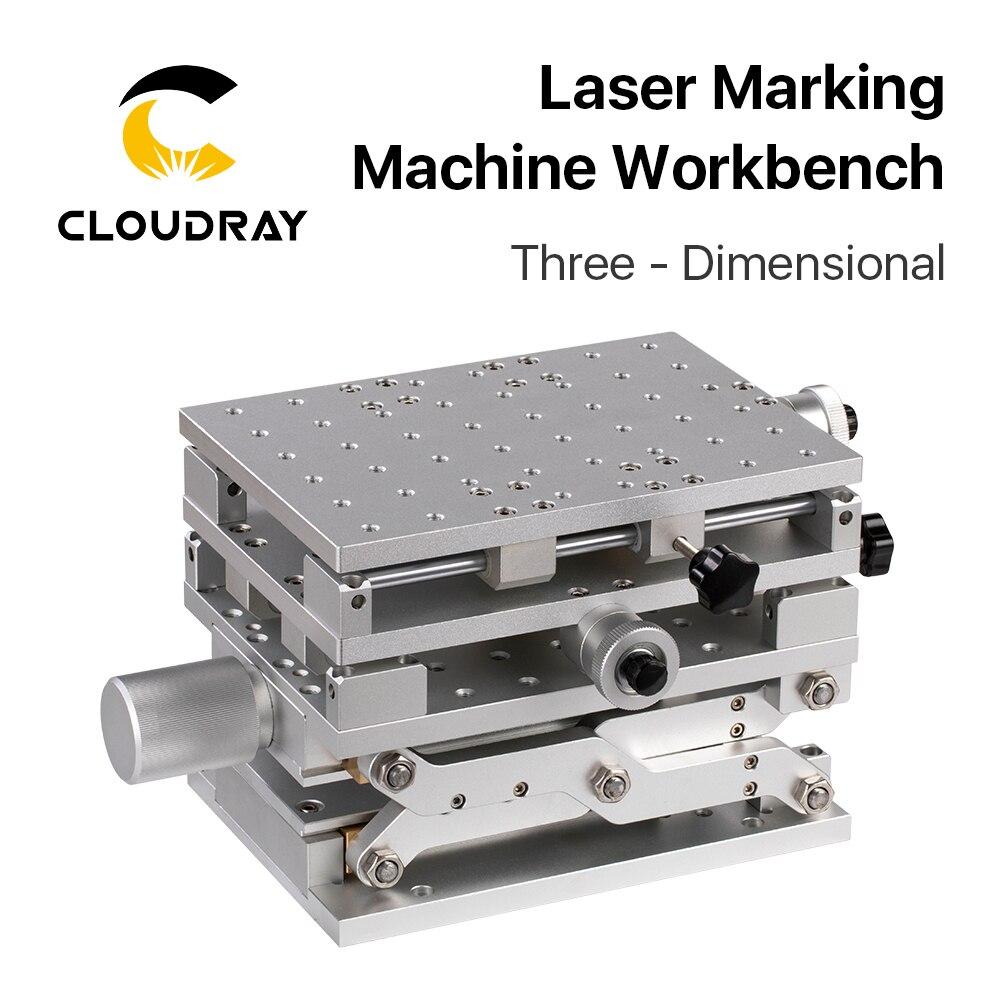 210x150x150mm da Bancada Xyz da Máquina da Marcação do Laser de Cloudray 150-275mm para a Máquina da Máquina do Laser da Fibra Axis Altura 3d