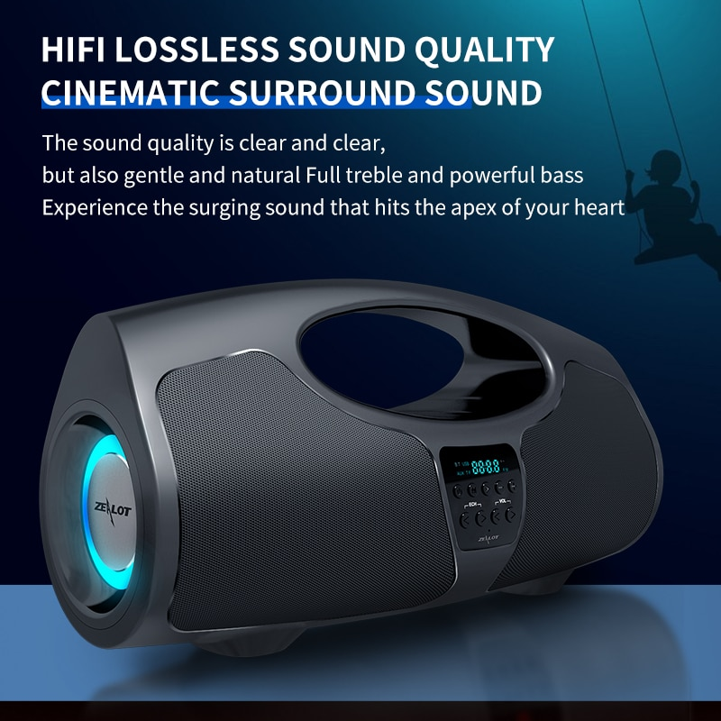 Zealot P1 40W Powerful Wireless Speakers Large Boombox For Bluetooth PC Computer Portable Stereo Subwoofer Bass Soundbox Karaoke enlarge