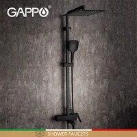 GAPPO robinets de douche  robinet de salle de bains noir ensemble de douche melangeur de salle de bains systeme de douche cascade robinets de douche