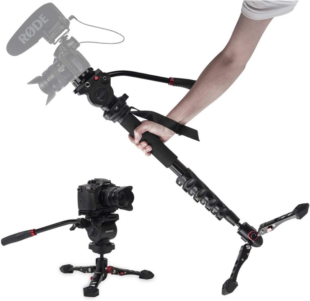 ASHANKS 160cm/63 pulgadas aleación de aluminio profesional luz para monopodo-peso para vídeo y cámara de vídeo trípode 5KG carga DSLR Accesorios