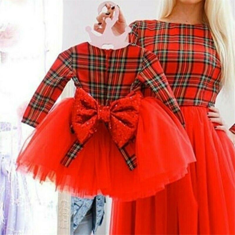 2020 crianças bebê menina natal vestido de princesa xadrez renda tule tutu vestido crianças menina natal traje lantejoulas arco menina vestido 1-5y