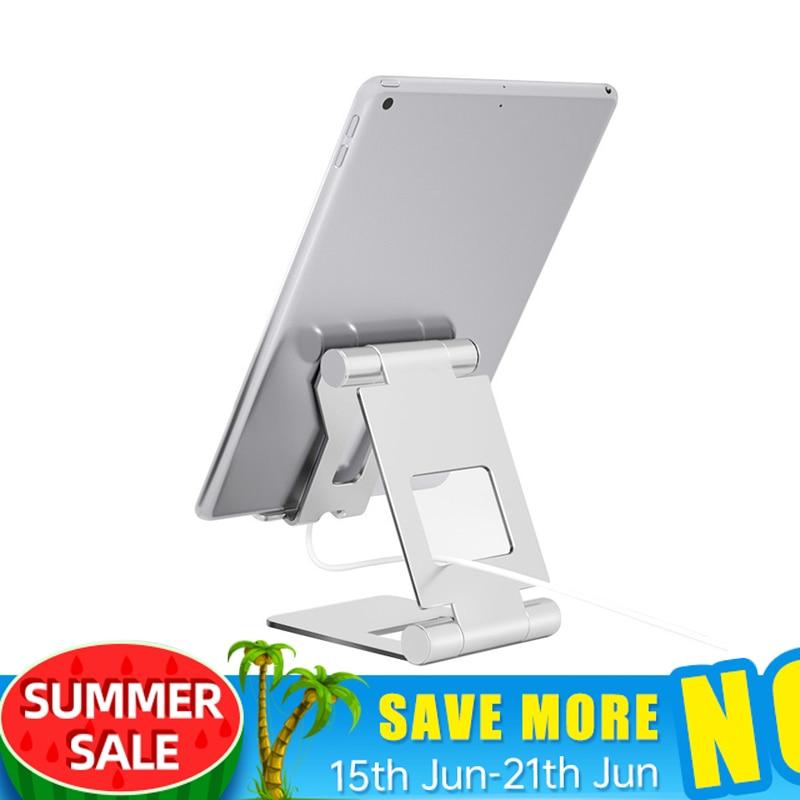 Tablet suporte ajustável dobrável tablet titular para ipad 7.9 9.7 liga de alumínio desktop suporte para ipad mini/ipad ar