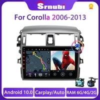 srnubi android 10 car radio for toyota corolla e140150 2007 2015 2 din dvd 4g wifi stereo multimidia video player dvd speakers