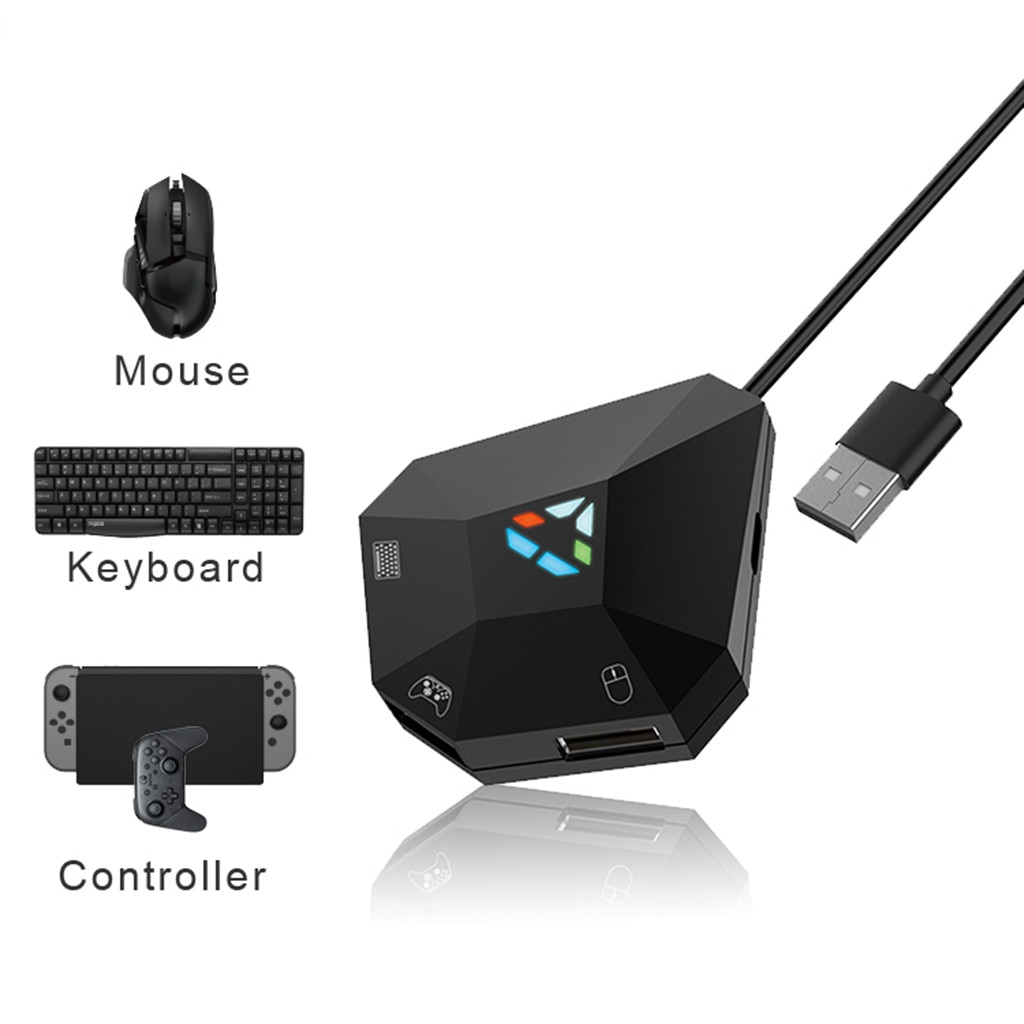 powkiddy bluetooth battledock converter stand docking for fps games using with keyboard and mouse game controller portable Gaming Keyboard Mouse Converter For N-Switch/PS4/X1/360 Game Controller Adapter Plug and Paly Gamepad PUBG Gaming Accessories