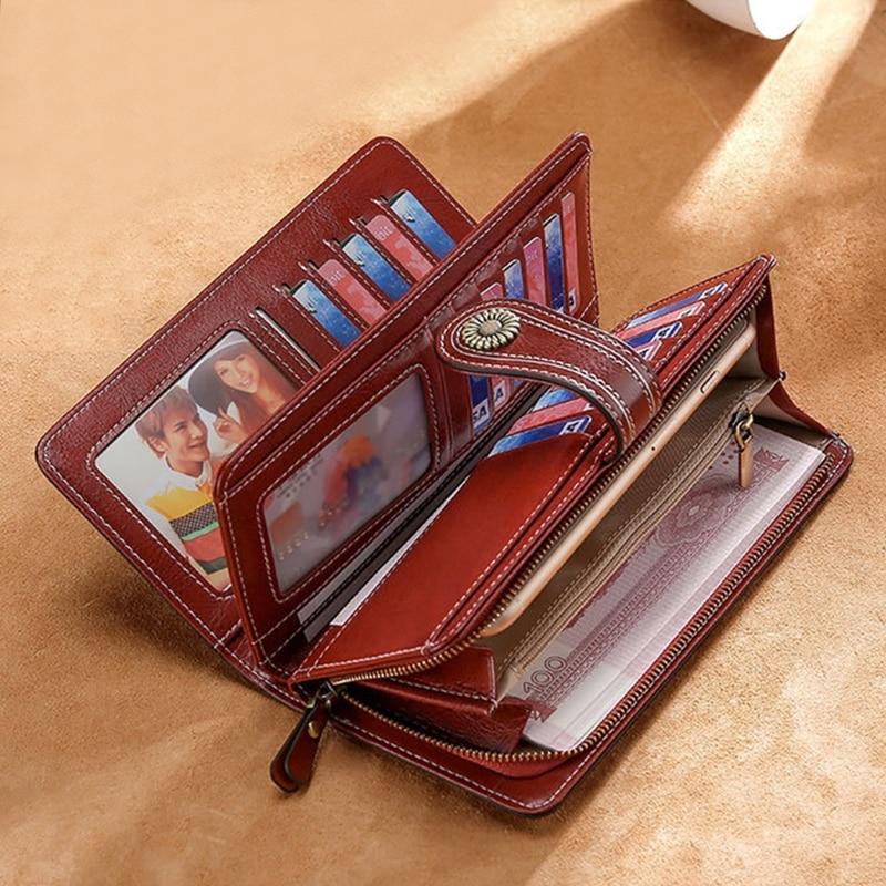 Women Leather Clutch Long Wallet Card Holder Phone Pouch Purse Handbag Bag
