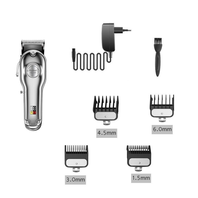 barber professional hair clipper all metal hair trimmer men cord&cordless electric hair cutting machine rechargeable haircut enlarge