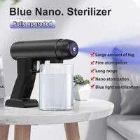 500ml blue light nano spray disinfection gun usb wireless charging atomizing sprayer anti clogging atomizing gun home supplies