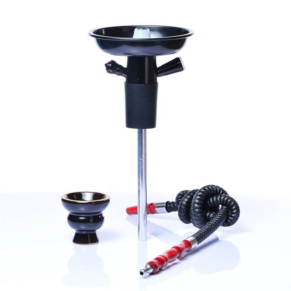 Use in wine bottles Aluminum Hookah Shisha Wine Bottle Top Hookah Stem Kit Hookah Complete Set With Bowl And Hose
