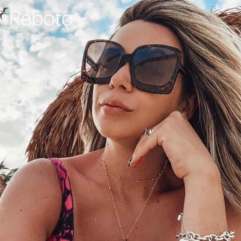 Gafas de sol cuadradas 2018, gafas de sol de gran tamaño con remache de diseño de marca, gafas de sol sexis con ojo de gato, gafas de sol con gradiente para mujer, gafas UV