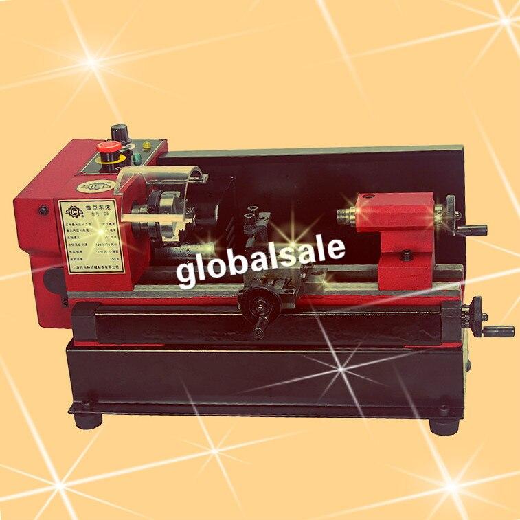 O envio gratuito de C0-125-220V 150 w c0 mini miniatura torno metal máquina ensino torno C0-125-220V mini ensino torno metal